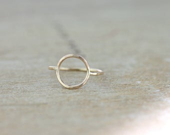 Gold Karma Circle Ring | Rose Gold Minimalist Circle Ring