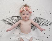 Wings - Organic Cotton Swaddle Blanket Tapestry