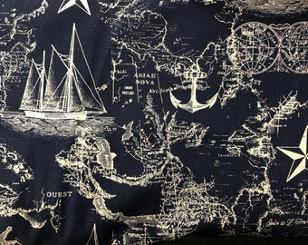 Tim holtz eclectic elements expedition world map fabric seven seas globes world map fabric novelty fabric world map globe countries cotton fabric ships navy blue fabric gumiabroncs Choice Image