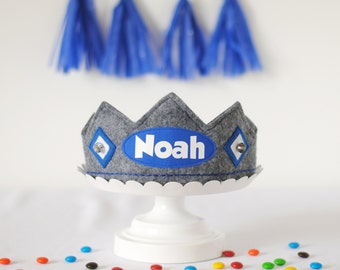 Birthday Crown Boy - Birthday Hat Boy - Personalized Boy Gifts - Personalized Toddler Gift - 1st Birthday Crown  - Personalized Name Crown