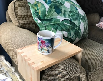 Sofa Arm Table, Side Table, Couch Table, Tray Table, Coffee Table, New Home Apartment, Quality, Hand Made, Wooden