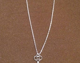 Skeleton key necklace-trinity design