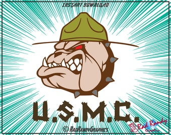 USMC Bulldog, Cut Files, EPS, SVG, Png, Vector