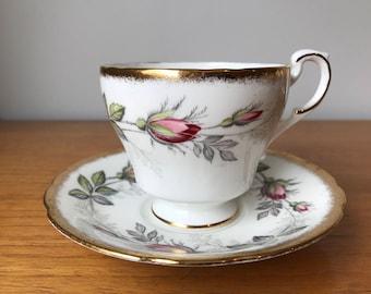Paragon Tea Cup and Saucer, Rose Teacup and Saucer, Vintage English Bone China