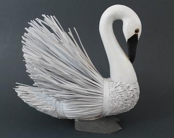 Tundra Swan//Trumpeter Swan,White Swan Miniature,