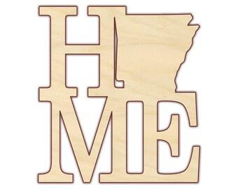 Arkansas Home Wood Cutout - Unfinished Wood - 160367