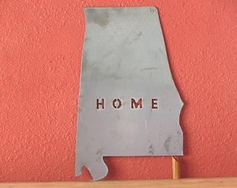 Alabama - state map outline - metal art