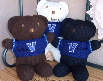 Bear, Villanova Wildcats Basketball, Basketball, Team Bear, Keepsake, Souvenir, Baby, Baby Shower, Birthday, Boy, Girl, Mother, Father, Teen