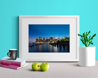 New York City Skyline Photo Print | Wall Art | Nature and Landscape Photography | (5x7, 8x10, 12x18, 16x24, 20x30, 24x36, 40x60)