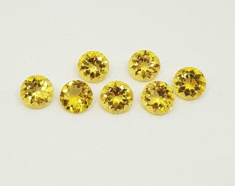 Heliodor Natural Yellow Beryl Perfect Round Shaped 8MM No Treatment No Radiation