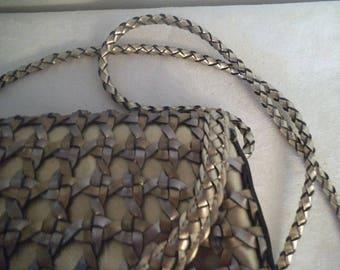 Vintage Metallic Woven Crossbody Purse ~ Gold and Silver Shoulder Bag ~  cross body