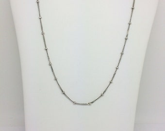 14K White Gold Beads By the Yard Chain