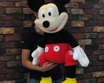 Mickey Mouse 35 inches - PDF amigurumi crochet pattern