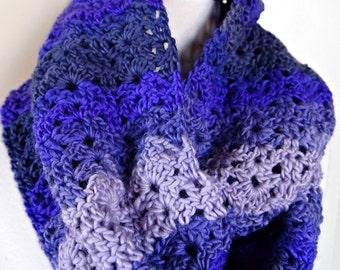 Infinity Scarf - purple stripes
