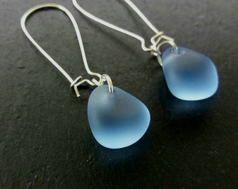 Irish Sea Glass Earrings  Sea Glass Earrings Mermaid Earrings  Beach Glass Earrings Beach Wedding Jewelry  Bridesmaid Earrings Gift