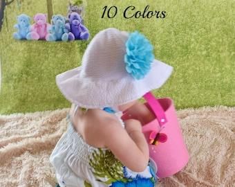Baby Girl Sun Hat, UPF +25 Sun Hat, Girls Sun Hat, Toddler Sun Hat, Sunhat, Newborn Sun Hat, Sun Hats for Baby Girls, Hats Baby