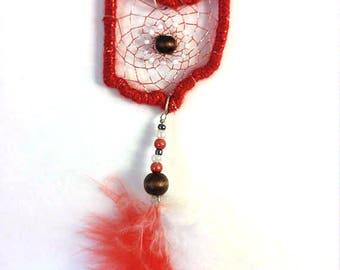 Ohio State Buckeye Dreamcatcher Necklace