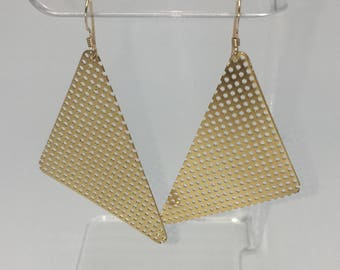 Gold Triangle Dangles