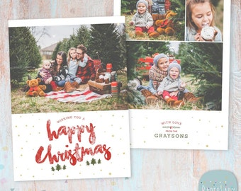Christmas Card Template Holiday Christmas Card Template