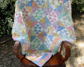 Baby Quilt, Quilted Toddler Quilt, Handmade Baby Shower Gift, Stroller Blanket, Crib bedding