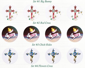 Easter Stickers Set 1 | Envelope Seals | Bunnies and Chicks | Set of 8 Indv or 20 1.5 inch Seals