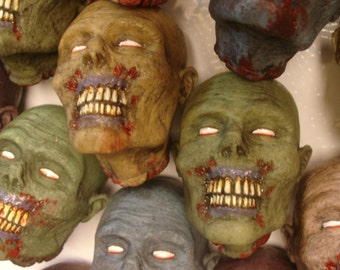 Zombie Head Magnets