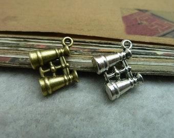 20pcs Bronze/silver old silver telescope pendant 5X15X16mm,DIY jewelry accessories ,charms pendants, A0929
