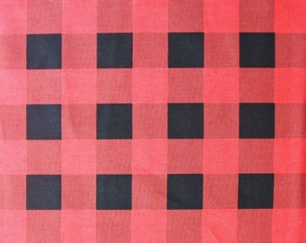 Red Black Buffalo Check Plaid Hometown Christmas Robert Kaufman Fabric Yard