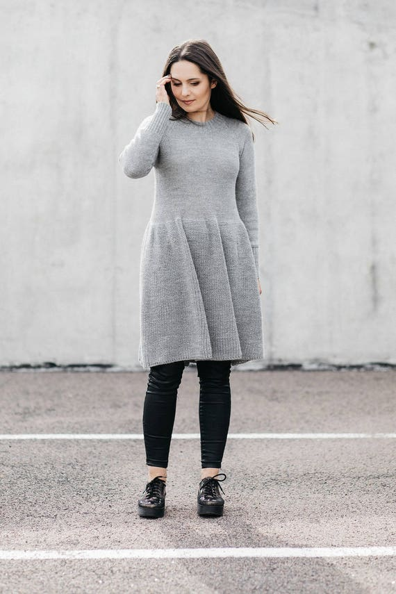 pullover sweater black women winter for dress Christmas dress dress casual sweater dress knit knitted Alpaca gray beige tunic gift zqgwa