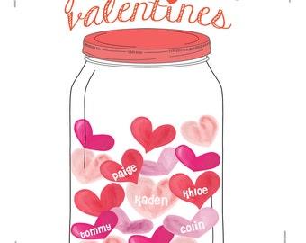 digital print - Valentine print - Nana's valentines - Grandma's valentines - gift for nana - valentine gift - personalized valentine print
