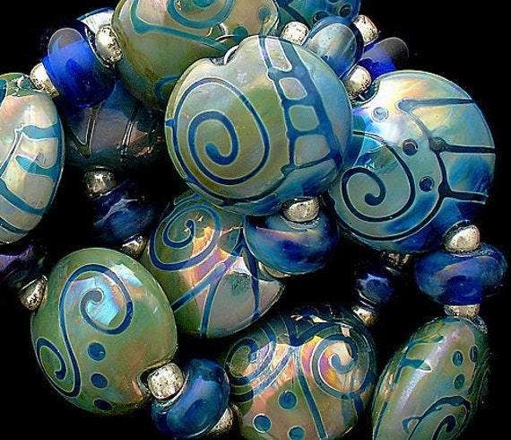 Glass Beads Travel Beads Tribal Beads Lampwork Beads Handmade Beads For Jewelry Supplies Beads For Necklaces Sea Beads Debbie Sanders