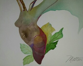 """SALE  Emergence Series """" Growth Spurt"""" one of a kind original watercolor"""