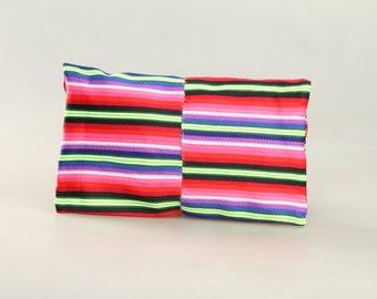 Small clutch: made from a tibetan apron, Potala purple design