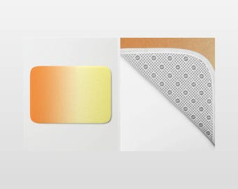 Bath Mat - Ombre Orange to Yellow - Shower Mat - Bathroom Mat -  Made to Order