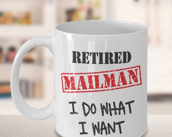Mailman Retirement Gift, Mail Carrier Gift, Postman Retire, Postman Gift, USPS Retire Mug, Mailwoman Gift, Postal Worker Retirement Gift