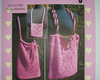 Punchcard Lace Bags - Machine Knit Pattern