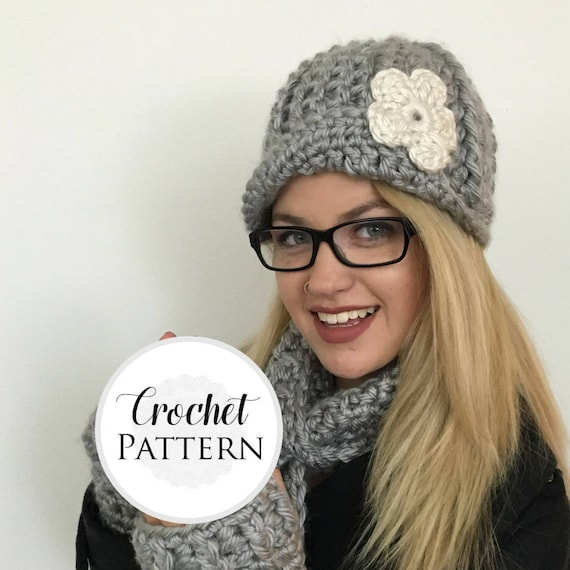 Asymmetrical Brim Newsboy Hat Crochet Pattern Newsboy Cap Pattern