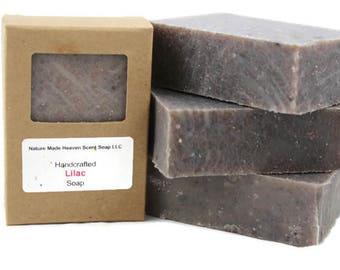 Lilac Bar Soap 5.5 oz. Cold Process, Handmade