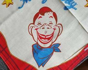 HOWDY DOODY Vintage 1988 Scarf Bandana New Old Stock never used