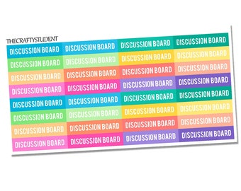 Discussion Board Headers Planner Stickers, Functional Stickers, School Stickers, College Stickers, Online Classes Stickers