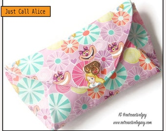 Ready to Ship Alice in Wonderland Clutch Bag