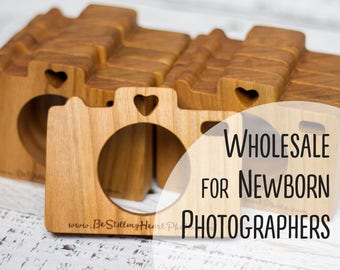 Bulk Wooden Cameras | Set of Newborn Teethers | Photographer Props | Free Shipping | Wholesale Babyshower Gift | Eco Friendly Timber Toy