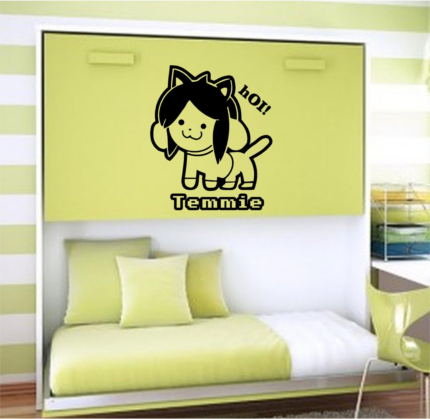 Wall Decal Window Decal Car Decals... Undertale. Temmie.