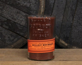 Bulleit Bourbon Candle Kentucky Bourbon Scent, Gift, Gift For Him, Christmas Present For Guy, Gift For Dad, White Elephant, Guy Gift