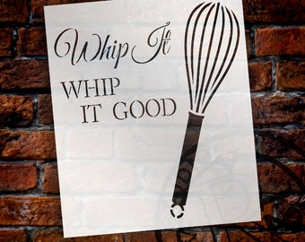 Whip It Good Art Stencil - Select Size - STCL1502 - by StudioR12