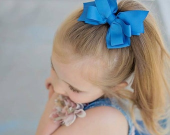 Stacked Bow - Hair Bows - Stacked Hair Clip - Little Girl Bows - Classic Hair Bow - Hair Bows for Girls - Gifts for Girls - Boutique Bows