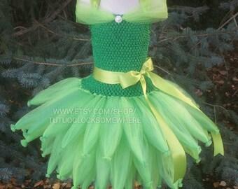 Customizable Fairy Inspired Tutu Dress, Fairy Costume, Tinkerbell Costume, Tinkerbell Tutu, Fairy Costume, Fairy Tutu Dress, Fairy Dress