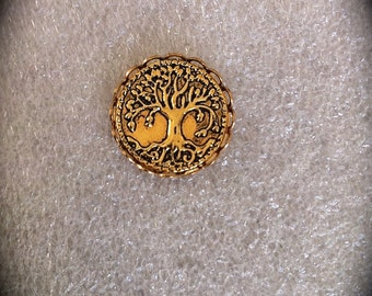 Tree of Life Lapel Pin, Mens Gold Tie Tack, Celtic Jewelry JMMF Jewelry Groomsmen Gift Drums of Autumn Outlander Inspired