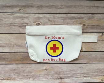 Dr. Mom First Aid Kit, Medical Kit, Travel Bag, First Aid Pouch, Gift Bag, Mothers Day Gift, Mom Gift