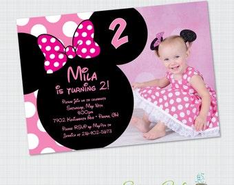 Cute minnie invite Etsy